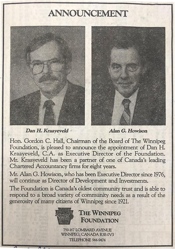 Alan Howison retirement notice, Oct. 21, 1989